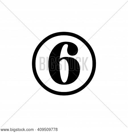 Number 6 Icon Vector. Number 6 Icon Isolated On White Background. Number 6 Icon Simple And Modern.