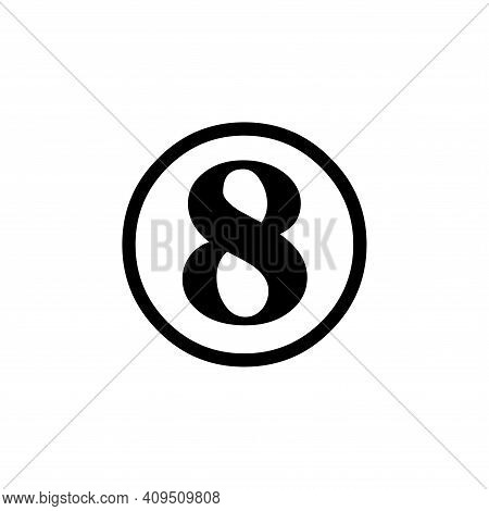 Number 8 Icon Vector. Number 8 Icon Isolated On White Background. Number 8 Icon Simple And Modern.