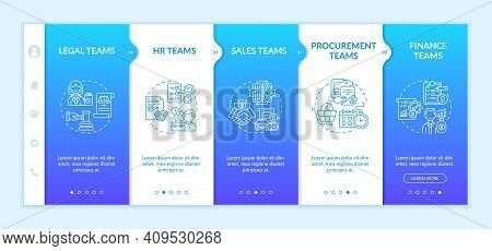 Contract Management Software Users Onboarding Vector Template. Procurement And Finance Teams. Respon