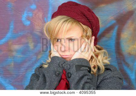 Worried Pretty Girl