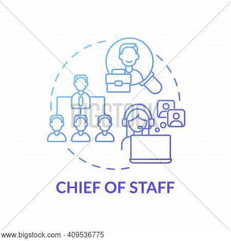 Chief Of Staff Concept Icon. Company Top Management Jobs. Advisors To Chief Executive. Business Crea