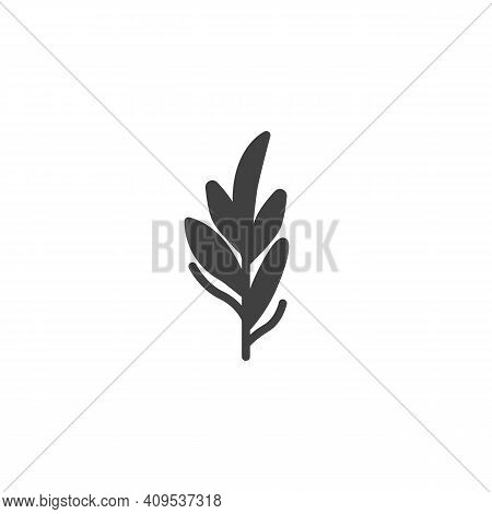 Rosemary Vector Icon. Filled Flat Sign For Mobile Concept And Web Design. Rosemary Herb Branch Glyph