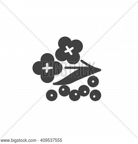 Mustard Flower Vector Icon. Filled Flat Sign For Mobile Concept And Web Design. Mustard Herb Glyph I