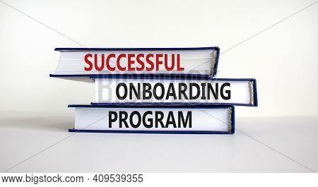 Successful Onboarding Program Symbol. Books With Words 'successful Onboarding Program' On Beautiful