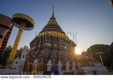Lampang/thailand-january 3 : Wat Phra That Lampang Luang An Important Annual Birth Temple Lanna Styl
