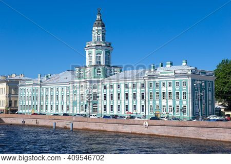 Saint Petersburg, Russia - July 17, 2020: The Old Building Of The Kunstkamera (museum Of Anthropolog