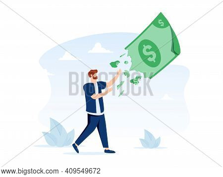Lose Money Investment In Financial Crisis, Profit And Loss In Business Or Deflation And Inflation Co