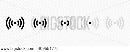Set Of Wi-fi And Wireless Icons. Wifi Zone Sign. Internet Connection Wi-fi Signal. Radio Waves Commu