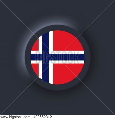 Flag Of Norway. National Norway Flag. Norway Symbol. Vector Illustration. Eps10. Simple Icons With F