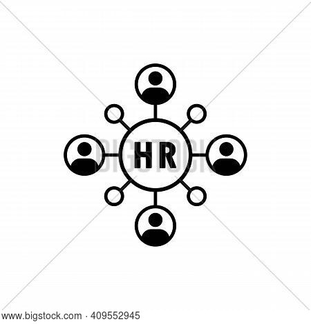 Hr, Personnel, Management Icon. Personnel Change Icon. People In Round Cycle Symbol. Human Resource
