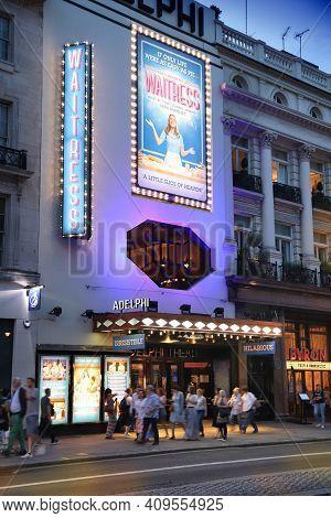London, Uk - July 12, 2019: Adelphi Theatre In London, Uk. It Is One Of London West End Theatres. In