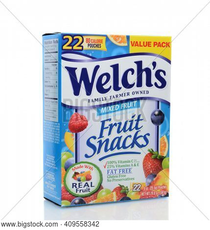 IRVINE, CA - JUNE 23, 2014: A box of Welch's Fruit Snacks. From The Promotion In Motion Companies, Inc. (PIM), is one of the leading manufacturers of popular brand name confections.