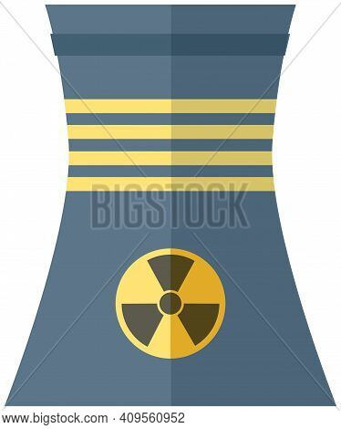 Container With Radioactive Substance Harmful To Environment. Trumpet With Radiation Symbol Isolated