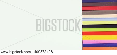 Color Palette Guide Of Paint Samples Catalog. Colour Swatches Book. Color Samples Tiles.