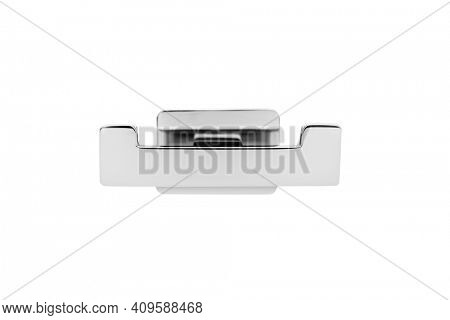 Nickel-plated hanger isolated on white background, including clipping path