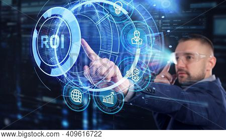 Roi Return On Investment Financial Growth Concept. Business, Technology, Internet And Network Concep