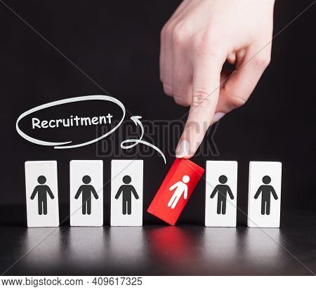 Business, Technology, Internet And Network Concept. Recruitment Career Employee Interview Business H