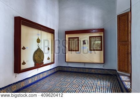 Fez, Morocco - June 02, 2017: Museum In The Dar Batha. The Former Royal Palace, Was Built By The Ala
