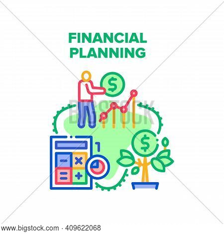 Financial Planning Economy Vector Icon Concept. Financial Planning Advising And Consultation, Financ