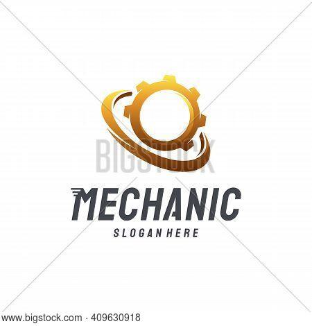 Modern Mechanic Logo Designs Vector, Gear Technology Logo Template