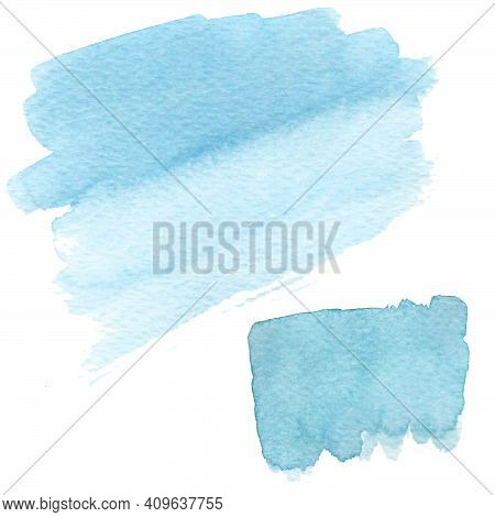 Abstract Watercolor Illustration. Set Of Colored Watercolor Paint Stains. Illustration For The Backg