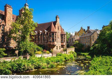 Dean Village, Aka Water Of Leith Village, In Edinburgh, Scotland, Uk