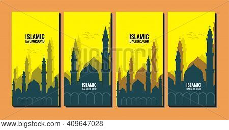 Illustration Vector Graphic Of Islamic Background Template, Perfect For Eid Al-adha, Eid Al-fitr, Pr