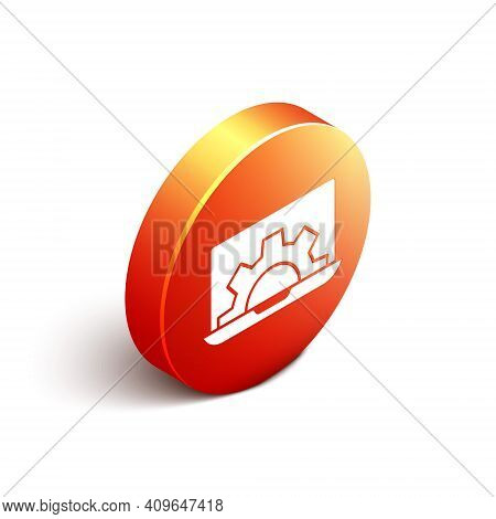 Isometric Software, Web Development, Programming Concept Icon Isolated On White Background. Programm