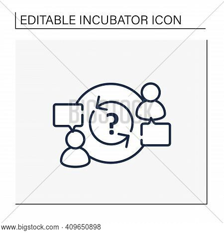 Advisory Line Icon. Provide Advice And Support To Owners, Directors, Employees. Lucrative Business O