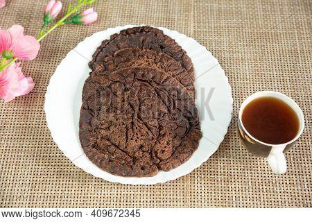 Nepali Style Ragi Millet Flour Pancake Recipe With A Cup Of  Black Tea.kodo Ko Roti. Finger Millet F
