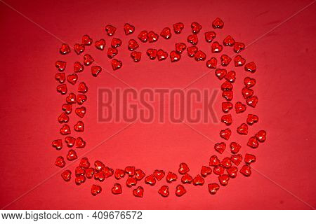Valentines Day Hearts Background. Many Colorful Hearts - Valentine Background. Beautiful Decorative