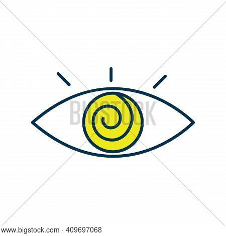 Hypnotherapy Session Rgb Color Icon. Being Into Trance State. Psychotherapy. Focused Attention Condi