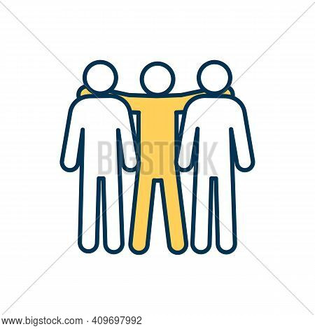 Teammates Rgb Color Icon. Co-players, Colleagues, Partners. Close Interpersonal Bond. Trust Between