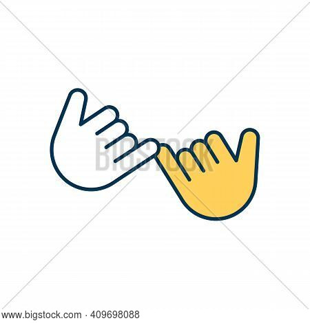 Pinky Swear Rgb Color Icon. Making Pinky Promise. Friendly Hand Gesture. Binding Contract. Sacred Vo