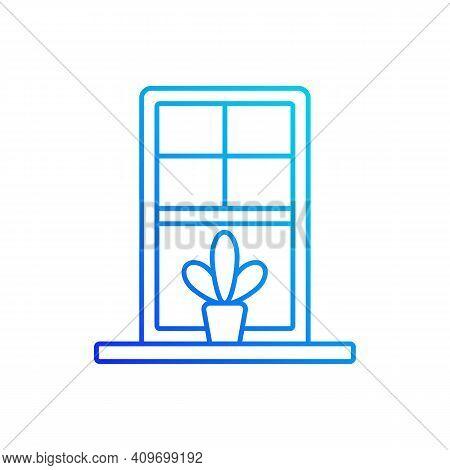 Windowsills Gradient Linear Vector Icon. Window Ledge. Horizontal Structure At Window Bottom. Buildi