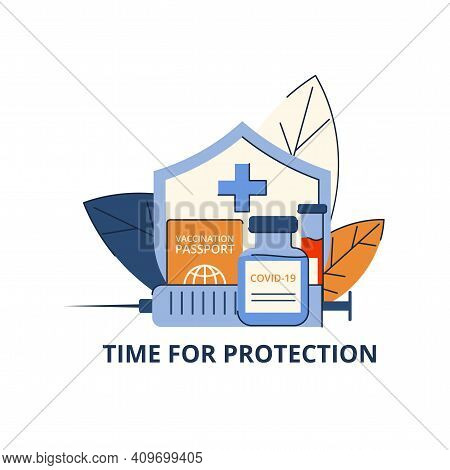 Time Of Protection Against Covid-19. Vaccination Against Viruses. Testing For Antibodies. Place For