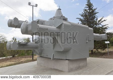 Sevastopol, Crimea, Russia - July 28, 2020: Corps Of The Command And Rangefinder Control Post For Ar