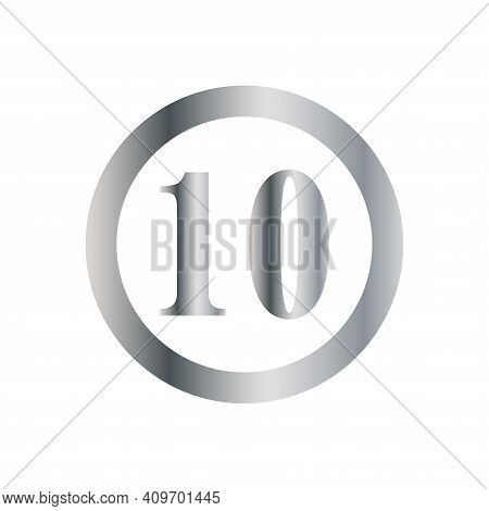 Number 10 Icon Vector. Number 10 Icon Isolated On White Background. Number 10 Icon Simple And Modern