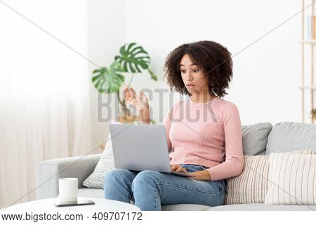 Stressed Attractive Lady Annoyed By Hard Job, Task Or System Crash, Problems At Work. Frustrated Sho