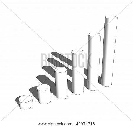3D Cylinder Bar Graph