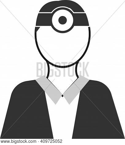 An Icon Of An Ophthalmologist In A Flat Style.