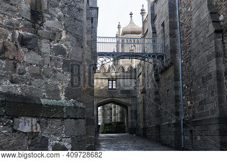 Passage Between The Walls Of An Ancient Palace, Looking Like A Medieval Street