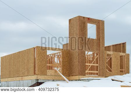Walls Of A Plywood House New Facade Modern