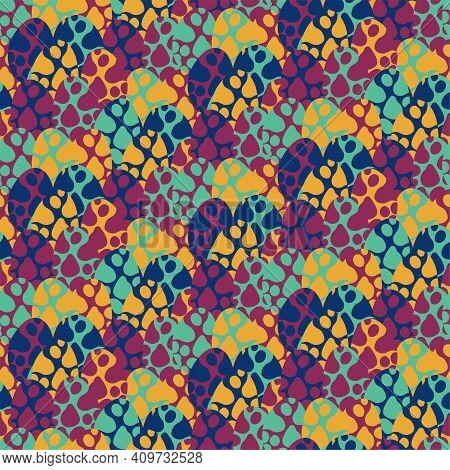 Motley Spotted Dino Eggs Seamless Pattern Vector. Vibrant Natural Abstract Endless Texture. Childish