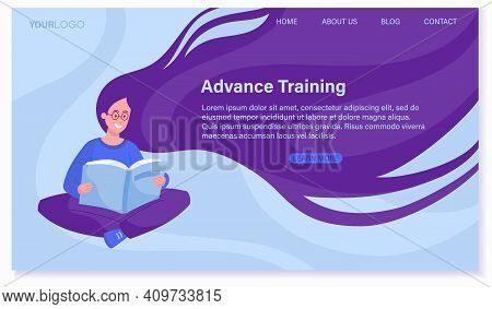 Business Topics - Advance Training, Education, Skill Development Abstract Concept. Website, Web Page