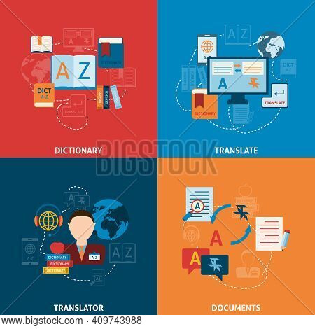 Translation And Dictionary Foreign Language Interpretation Process Elctronic Mobile Technology Four