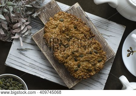 Oatmeal Cookies With Pumpkin Seeds And Sesame Seeds