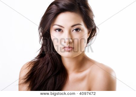 Beautiful Asian Woman With Natural Makeup