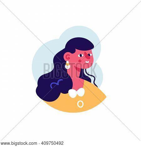 Woman Brunette Avatar Person Profile User Icon Vector