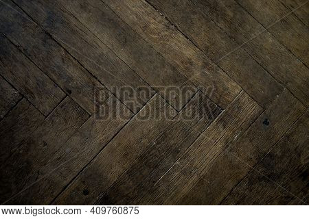 Old Scratch Wood Wall Texture Background. Detailed Texture Of A Old Wooden Flooring. Modern Vintage